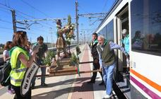 San Isidro viaja en tren en la romería de Dueñas