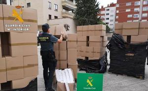 Detenido en Palencia un hombre que conducía un camión cargado de tabaco de contrabando