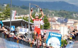 Masnada se impone en la sexta etapa y Roglic pierde el liderato
