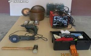 Detenido un hombre con 40 antecedentes tras robar maquinaria de obra y dinero en Valladolid