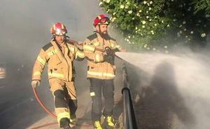 Nueve intervenciones de los bomberos en un solo día en Valladolid