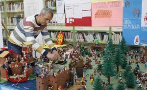 Una clase de historia con playmobil en el IES Virgen de la Calle de Palencia