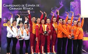 Valeria Carballo, campeona de España escolar de gimnasia rítmica con Castilla y León