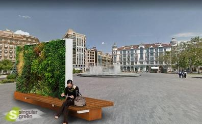 Un tapiz vegetal cubrirá el techo de la marquesina de la plaza de España en Valladolid