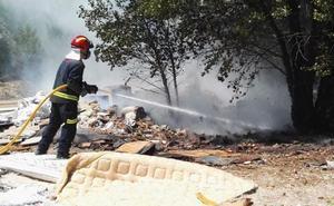 Los bomberos intervienen en tres incendios en Valladolid