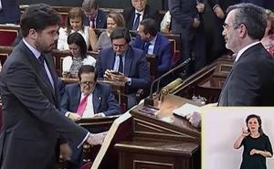 Dos jóvenes de Palencia, en la Mesa de Edad del Senado