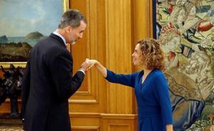 Felipe VI recibe a los presidentes del Congreso y Senado