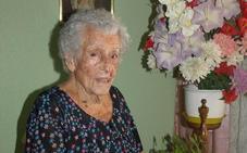 100 años de la abuela de Pedrajas