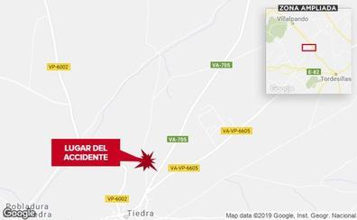Muere un joven motorista de la localidad vallisoletana de Tiedra al caerse en un camino del pueblo