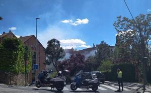El tercer incendio de pelusas esta semana amenaza la ribera del Eresma en el barrio de San Lorenzo