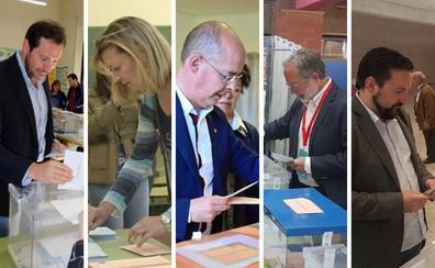 Así han votado los candidatos de Valladolid
