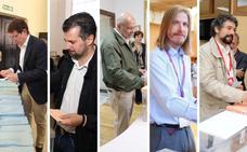 Los políticos de Castilla y León acuden a las urnas