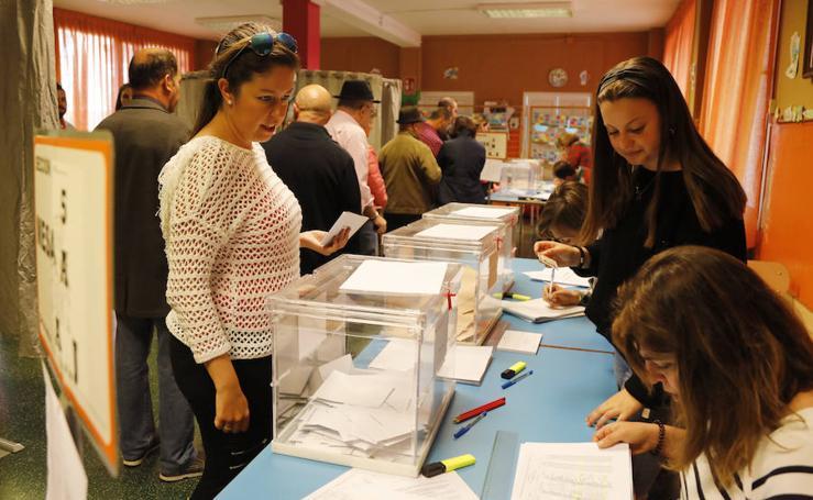 Jornada electoral en la capital Palentina