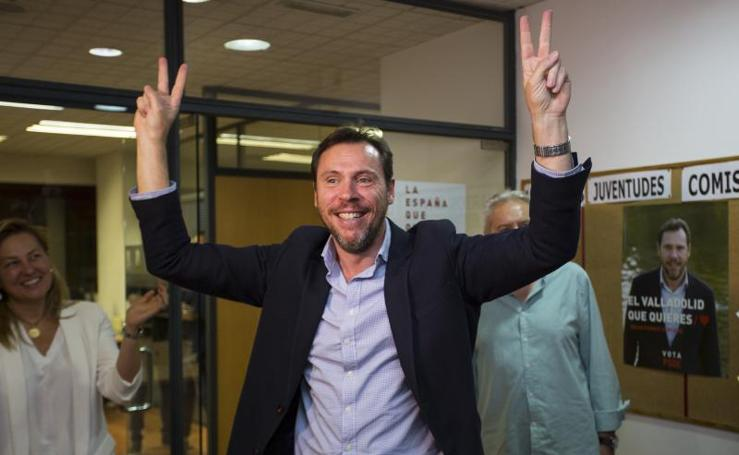 Los candidatos a la Alcadía de Valladolid después conocer los resultados