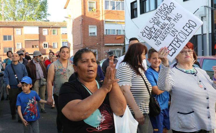 Vecinos de Pajarillos protestan por las obras del 29 de Octubre