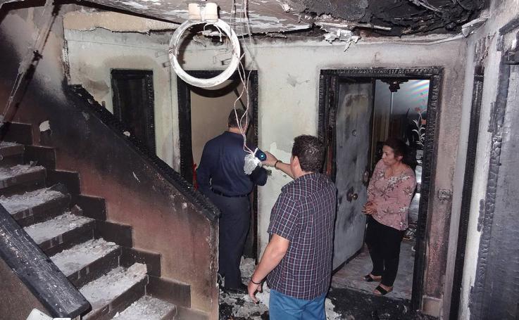 Incendio en el Paseo del Cauce de Valladolid
