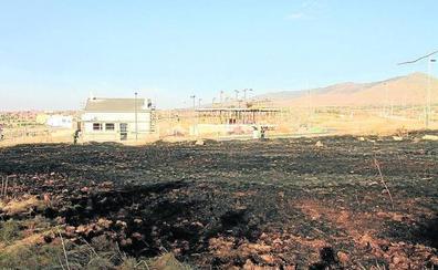 Un incendio arrasa mil metros cuadrados de pasto en Carrascalejo