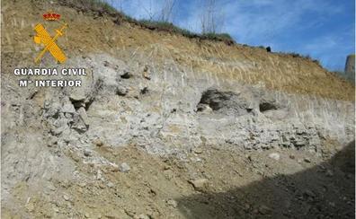 Investigan a tres personas por graves daños en el yacimiento arqueológico de Mucientes