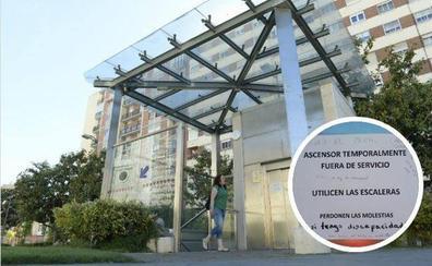 El ascensor del 'parking' de Portugalete, averiado desde hace veinte días por «forzar sus puertas»