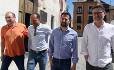 «Es hora de hablar de política y no de repartos», afirma Luis Tudanca en el Real Sitio de San Ildefonso