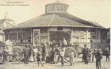 Estampas del Valladolid antiguo (V): el desaparecido mercado de Portugalete