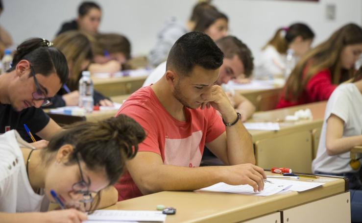 Examen de la EBAU en Valladolid