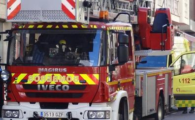 Un afectado por inhalación de humo en el incendio de su vivienda en La Cistérniga
