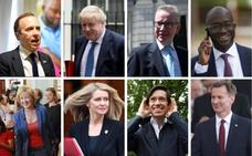 Los candidatos a reemplazar a Theresa May