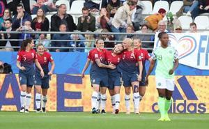 Noruega comienza goleando a Nigeria