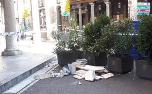 Dos mujeres, heridas tras caer cascotes de gran tamaño sobre una terraza de Valladolid