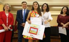 Entrega de premios del concurso de marcapáginas de la Diputación
