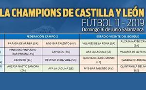 La Champions del Campeonato Regional de Fútbol 11 Aficionado se disputa este domingo en Salamanca