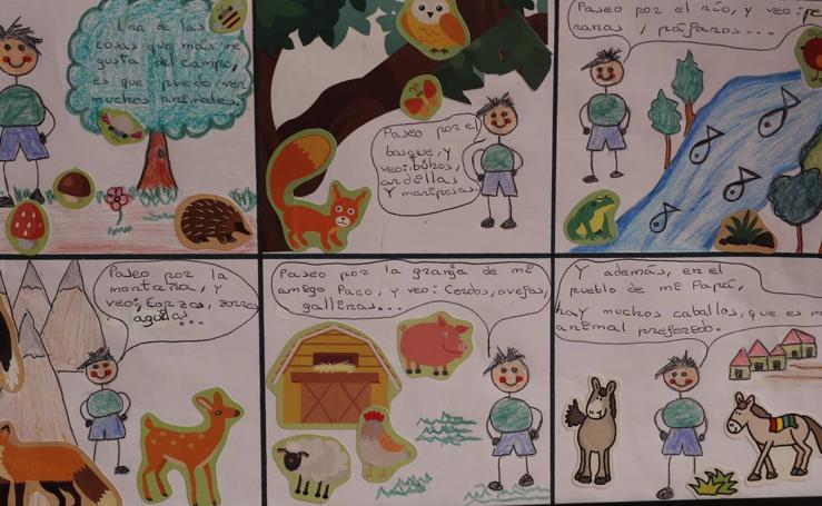 Trabajos de 4º de Primaria en la modalidad de cómic del III Concurso de Dibujo y Cómic 'La vida del campo'