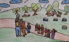 Trabajos de 4º de Primaria en la modalidad de dibujo del III Concurso de Dibujo y Cómic 'La vida del campo'