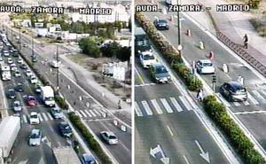 Las obras causan retenciones en el cruce de las Avenida Zamora y Madrid en Valladolid