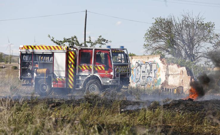 Incendio de matorral en Palencia