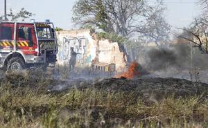 Un incendio calcina 2.000 metros cuadrados de matorral en Palencia