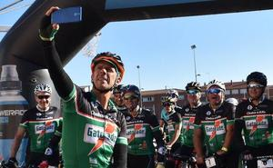 Aguilar pedaleó al ritmo de Peio Ruiz Cabestany