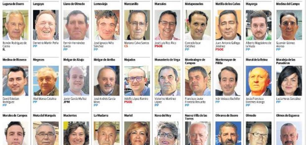 Estos son todos los alcaldes de la provincia de Valladolid