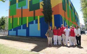 Visita a las obras de la AFE en Cabrerizos 'Pintura en espacios libres y edificios'