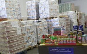 Los 67.000 kilos de alimentos del plan de ayuda del Fega llegarán en Segovia a casi 3.000 personas