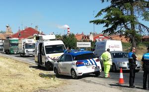 Fallece un motorista al colisionar con un turismo en Castañares
