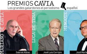 Gabriel Albiac, José Luis Corripio y José María Nieto, premios Cavia, Luca de Tena y Mingote