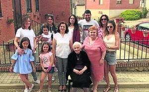 Una mujer cumple 104 años en Villamuriel de Campos