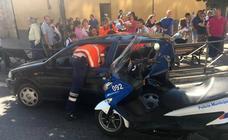 Colisona contra otro coche tras sufrir un ataque epiléptico en Valladolid