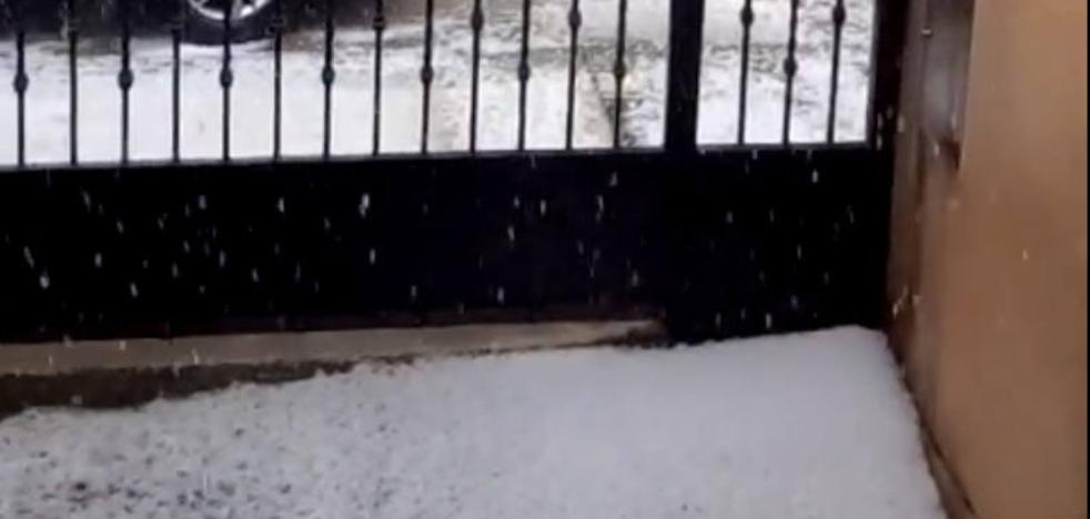 Lluvia y granizo en la jornada de alerta por tormentas en Palencia