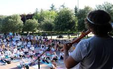 Día del Yoga en el parque de la Paz
