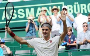 Federer buscará su décimo título en Halle ante Goffin