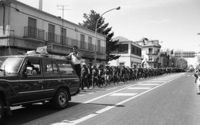 Del hierro al aluminio, treinta años de marchas reivindicativas con parada y fonda en El Espinar