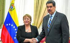 Los venezolanos depositan sus últimas esperanzas de normalización en Bachelet